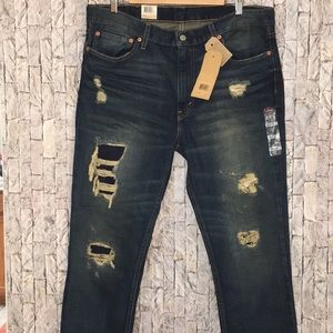 Levi's 511 38x32 slim fit jeans distressed
